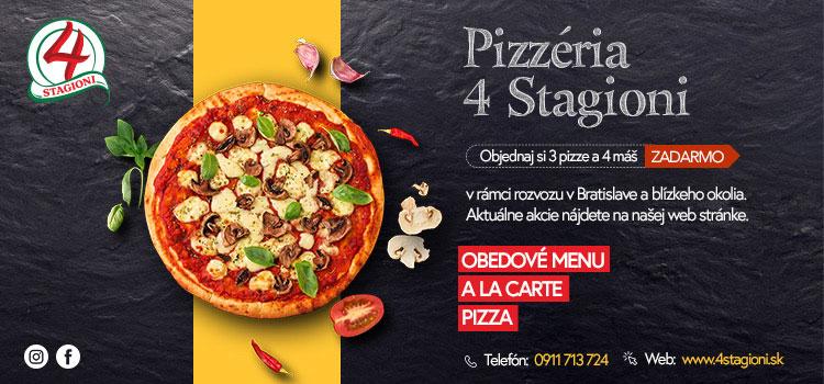 4 stagioni pizza a restauracia Vrakuna Bratislava donaska